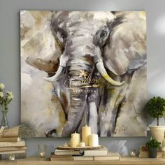 Fauna Eyes of Ivory - Decorative Oil Paintings - Martin Glyn Jones Photography - - Fauna Eyes of Ivory - Decorative Oil Paintings - Martin Glyn Jones Photography Elephant Canvas, Animal Paintings, Beautiful Paintings, Art Oil, Painting Inspiration, Art Pictures, Watercolor Paintings, Art Decor, Modern Art