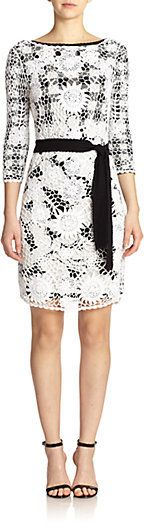 Diane von Furstenberg Kennie Crochet & Gingham Print Dress on shopstyle.co.uk