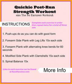 Post-Run Strength Workout