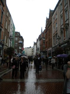 The rainy streets of Dublin.  Walking in the rain is nice..