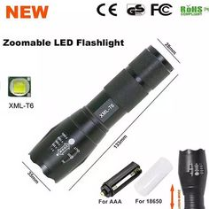 LED Flashlight 18650 Zoom Torch Waterproof Flashlights XM-L T6 3800LM 5 Mode Led Zoomable Light For 3x AAA Or 3.7v Battery Flashlight Light Waterproof Flashlights Online with $10.93/Piece on Hellenhe2016's Store | DHgate.com