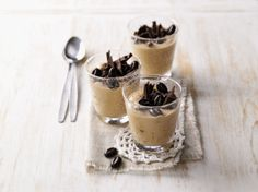 Espresso Dessert, Individual Desserts, Chocolate Coffee, Mousse, Sweet Recipes, Panna Cotta, Deserts, Dessert Recipes, Food And Drink