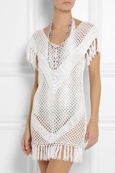 Melissa Odabash|Riri crochet-knit dress|NET-A-PORTER.COM