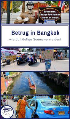Bangkok bietet einen super einfachen Einstieg für Reiseanfänger. Aber überall wo es Touristen gibt, gibt es auch Trickbetrüger. Pass auf, daß dir keiner dieser 10 Betrugsversuche passiert. #Thailand #Bangkok #Backpacking #Rucksackreise #Weltreise #Asien #Reisetipps #Betrug #Scam #Taxi #TukTuk #Touristen
