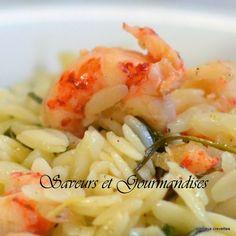 Saveurs et Gourmandises: Orzo aux Crevettes.