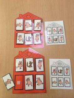 The three little pigs MS Three Little Pigs, Cute House, Edd, Thoroughbred, Pet Shop, Book Activities, Games For Kids, Fairy Tales, Diy And Crafts