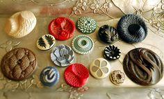 Buffed celluloid buttons by calloohcallay, via Flickr