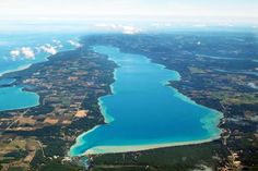 Torch Lake, Michigan - view from the south looking northward