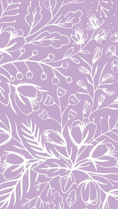 Purple and White Aesthetic Wallpaper for Spring