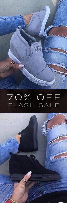 Slip-On Wedge Sneakers from Speak Women Shoes Sneakers casual Look Fashion, Fashion Shoes, Fashion Outfits, Womens Fashion, Mode Outfits, Fall Outfits, Outfit Winter, Casual Outfits, Cute Shoes
