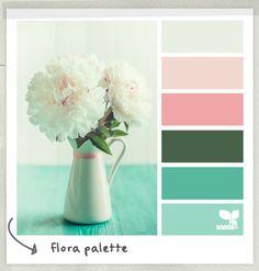 color scheme, smitten blog designs, design seeds