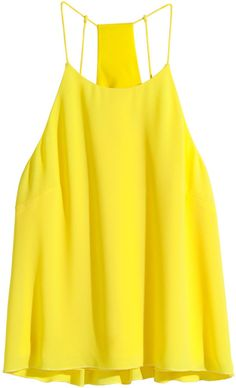 H&M Woven Tank Top - Yellow - Ladies on shopstyle.com