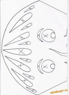 Na základě spousty reakcí, vkládám předlohy pro vytvoření podzimních prostřihovánek - draků.rnrn...