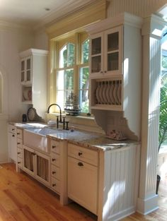 Home Remodel Hacks 026 Cottage Kitchen Cabinets Ideas Farmhouse Style.Home Remodel Hacks 026 Cottage Kitchen Cabinets Ideas Farmhouse Style Cottage Kitchen Cabinets, Kitchen Redo, New Kitchen, Vintage Kitchen, Kitchen Remodel, Kitchen Ideas, Kitchen Hutch, Plate Racks In Kitchen, Kitchen Yellow