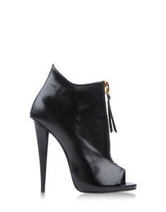 Women Giuseppe Zanotti Alien Leather Black Ankle Boot With Zip