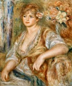 Pierre-Auguste Renoir - Fair-haired woman with rose in the hair