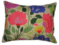 Purple Tulips designer pillow from the Kim Parker collection