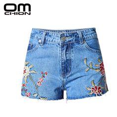 Summer Shorts High Waist Jeans Sexy Split Denim Short Women Jeans With Embroidery