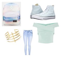 """Regular boring Monday's"" by maddierosecarter on Polyvore featuring JanSport, Converse, BauXo and Glamorous"