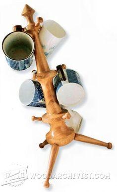 3294-Mug Tree - Woodturning Projects
