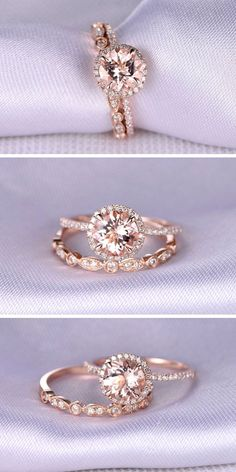 24 Rose Gold Engagement Rings That Melt Your Heart ❤ Rose gold engagement rings have a feminine and romantic look. See more: http://www.weddingforward.com/rose-gold-engagement-rings/ #wedding #rings #engagement