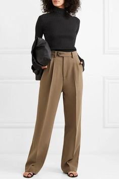 Black stretch cotton-blend Slips on cotton, viscose, elastane Dry clean Made in Italy Cute Casual Outfits, Chic Outfits, Fashion Outfits, Victoria Beckham, Lawyer Fashion, Suits For Women, Clothes For Women, Elegantes Outfit, Looks Chic
