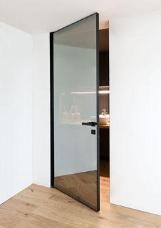 Modern Home Decor Quadra.Modern Home Decor Quadra Entrance Doors, Doorway, Entrance Ideas, Sliding Glass Door, Sliding Doors, Glass Door Hinges, Pivot Doors, Mirror Door, Ideas Baños