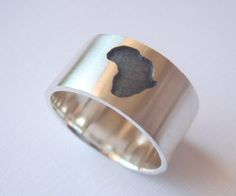 Sterling Silver Africa Ring 925 by BlackStarSA on Etsy, $55.00