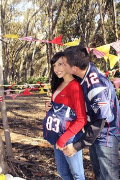 Show off your growing team spirit. | 38 Insanely Adorable Ideas For Your Maternity Photo Shoot