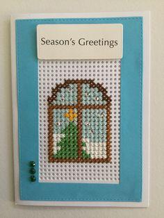 Tiny Cross Stitch, Simple Cross Stitch, Cross Stitch Designs, Cross Stitch Patterns, Cross Stitch Christmas Cards, Cross Stitch Cards, Christmas Cross, Stitching On Paper, Cross Stitching