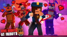 Minecraft: FIVE NIGHTS AT FREDDY'S #50 - ANIMATRONICS APAIXONADOS PELA V...