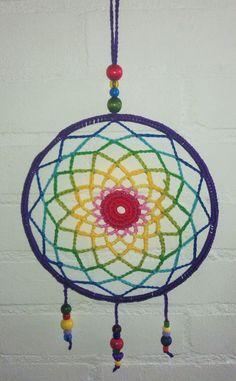 How To Make Dreamcatchers, Los Dreamcatchers, Crochet Round, Love Crochet, Crochet Baby, Dream Catcher Mandala, Dream Catchers, Crochet Wall Art, Crochet Dreamcatcher