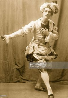 Russian dancer and choreographer <a gi-track='captionPersonalityLinkClicked' href=/galleries/search?phrase=Vaslav+Nijinsky&family=editorial&specificpeople=220747 ng-click='$event.stopPropagation()'>Vaslav Nijinsky</a>, in a scene from the ballet 'Pavillon d'Armide'. Music by Nicolai Cherepnin, choreography Mikhail Fokine, design by Alexandre Benois.