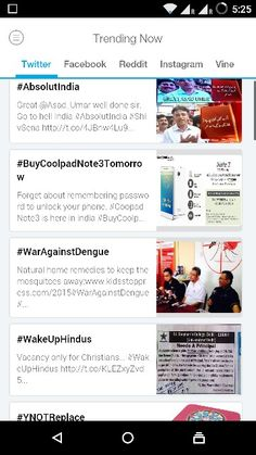 Top trend in this hour on #Twitter (India) #AbsoluteIndia #BuyCoolpadNote3Tomorrow #WarAgainstDengue #WakeUpHindus #YNOTReplace Get #trendstoday app for more updates.