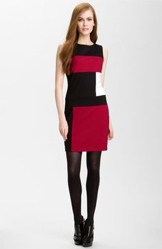 Vince Camuto Sleeveless Colorblock Dress available at #Nordstrom
