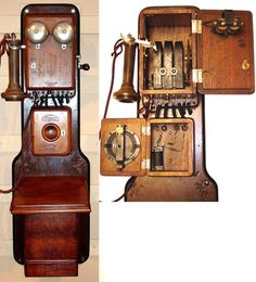 1880 Charles Williams Jr. 3 box telephone set made for The American Bell Telephone Company with a Blake Transmitter and 101 Bell Telephone Receiver.