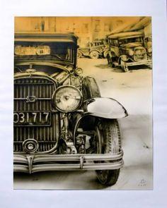 """Saatchi Art Artist Adrian DeDea; Painting, """"Old Buick"""" #art"""