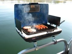 Arnall's Pontoon Grill Bracket Set. Rail mount everything!