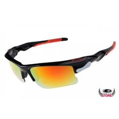 7f21a764ae Find great deals on fake Oakley sunglasses online store for knockoff Oakleys  Fast Jacket polished black frame   fire iridium lens.