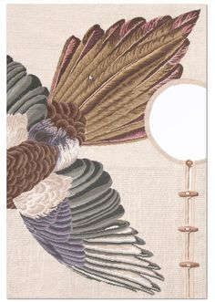 migration gazza #Design by Forma Fantasma, needlepoint technique, no pile  wool http://nodusrug.it/it/collezione_tappeti_scheda.php?ID=MIGR2