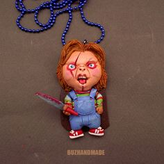 HORROR | Chucky Child's Play CHARM Necklace | BUZHANDMADE