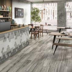 Uutuudet 2018│Laattapiste Paving Pattern, Reception Areas, Hotel Lobby, Outdoor Furniture, Outdoor Decor, Coffee Shop, Dining Bench, Entrance, Flooring