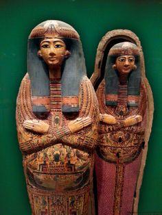 Coffin Set of the Singer of Amun-Re, Henettawy (F)  Third Intermediate Period,  Dynasty 21 ca, 990–930 BC.jpg by leoncillo sabino, via Flick...