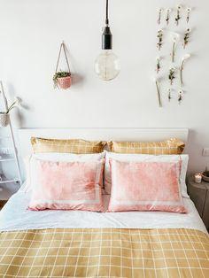 Nordic Home, Pastel, Ceiling Lights, Home Decor, Sheet Sets, Geometric Prints, Duvet Covers, Master Bedroom, Cake