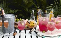 Learn how to make Bama Breeze Mocktail . MyRecipes has tested recipes and videos to help you be a better cook Refreshing Cocktails, Summer Drinks, Cocktail Drinks, Cold Drinks, Fun Drinks, Beverages, Alcoholic Drinks, Summertime Drinks, Summer Bbq