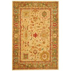 9 x 12 rugs   Safavieh Anatolia 9 x 12 Beige/Green AN511A-9 Style Area Rugs at ...