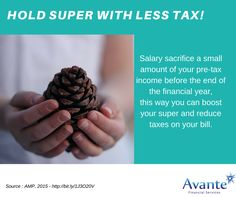 Keep hold of your super with less tax!  Pay less in taxes this year, with these strategies. (1) Keep more Super.  #Finance #Tax #Superannuation #SMSF
