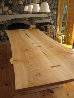 Live Edge Dining Table by Chris Gray Furniture Live Edge Furniture, Grey Furniture, Design Furniture, Furniture Projects, Rustic Furniture, Live Edge Wood, Live Edge Table, Slab Table, Wood Table