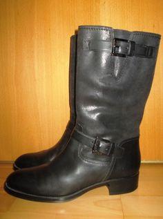 * * * TOD'S Stiefeletten schwarz Antikleder, Gr.39,5 * * * | eBay