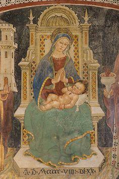 """""""Madonna col Bambino in trono e santi"""", chiesa di S. Maria Maggiore, Sovana (GR) #TuscanyAgriturismoGiratola"""